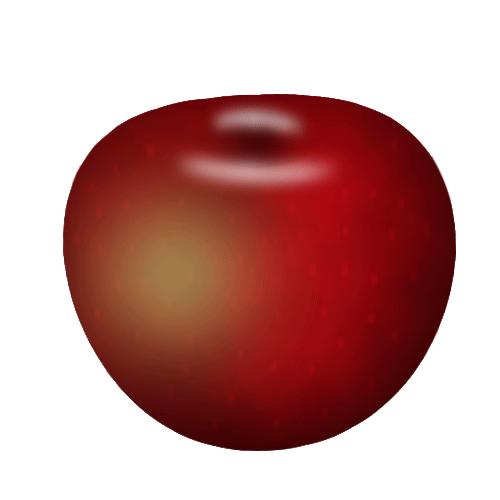 تفاحة (سلسلة الرسم بالفوتوشوب